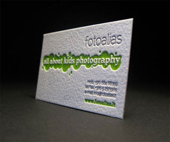 Elegant And Funny Letterpress Business Card For Kids Photographer We Think It Should Perfectly Engage Their Parents