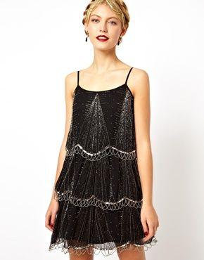 Art Deco inspired bridesmaids dresses