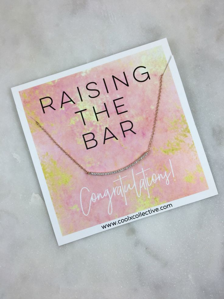 Congrats gift, bar necklace, grad gift, graduation, promotion, new job, grad school, raising the bar, motivational gift, congratulations by CoolxCollective on Etsy https://www.etsy.com/listing/487709023/congrats-gift-bar-necklace-grad-gift