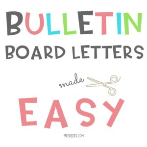 Bulletin Board Letters Made Easy