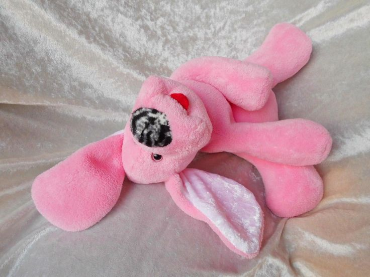Pink Puppy YOGA - floppy dog soft toy for baby shower girl so cute : )