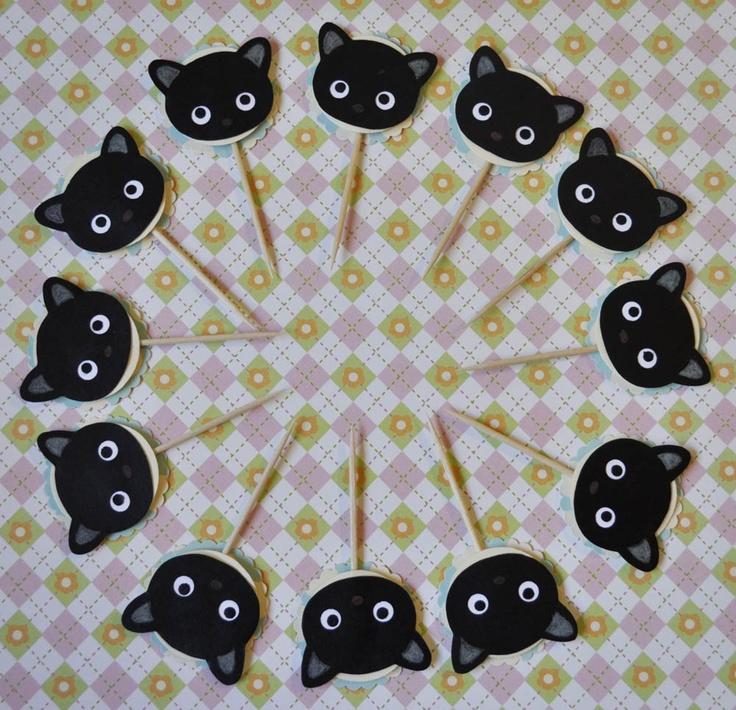 Chococat cupcake topper. #Chococat #HelloKitty