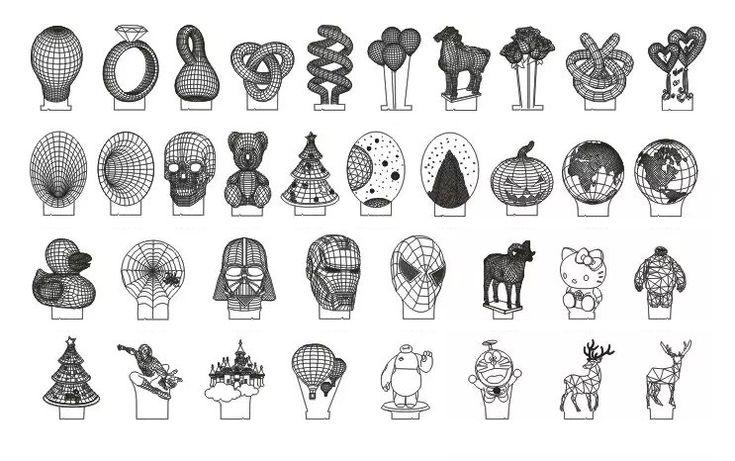 3d optical illusion lamps patterns designs