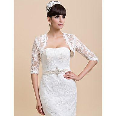 gepersonaliseerde half mouw kant bruiloft / feest avond jassen / wraps (meer kleuren) bolero schouderophalen – EUR € 29.39