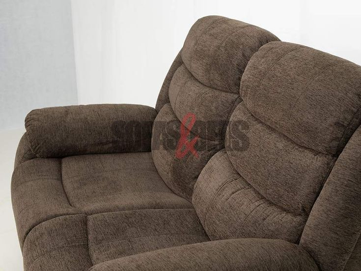 Brown Soft Fabric Recliner Sofa Set, Brown Fabric Recliner Sofa 3 2