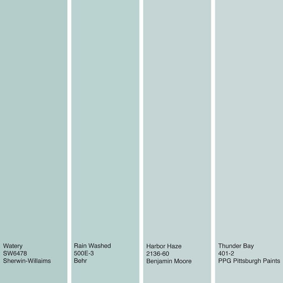 Sherwin Williams Vs Behr Interior Paint: Watery Blue Hues. These Soft, Muted Greenish-blue Hues