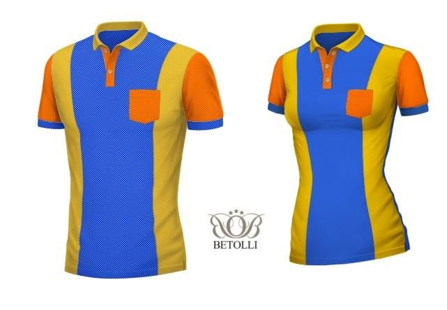 Polo shirt for male and female in 3 colors. Orange&Yellow&Blue