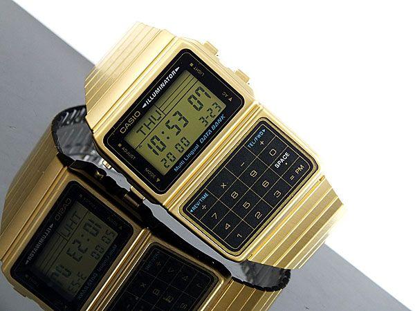 gold calculator casio watch