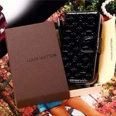 オールワンカラー☆アイフォン7/6sケースSEおすすめブランドLVエンボス加工エナメル革手帳型カード収納ルイヴィトンiPhone6s Plus/5s携帯カバーストラップ付き
