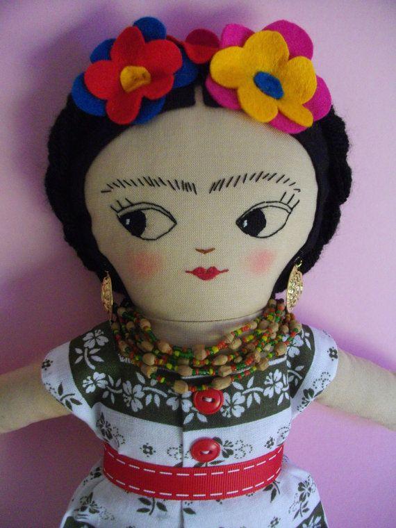 FRIDA KAHLO Art Doll Handmade plush toy original Rag doll ...