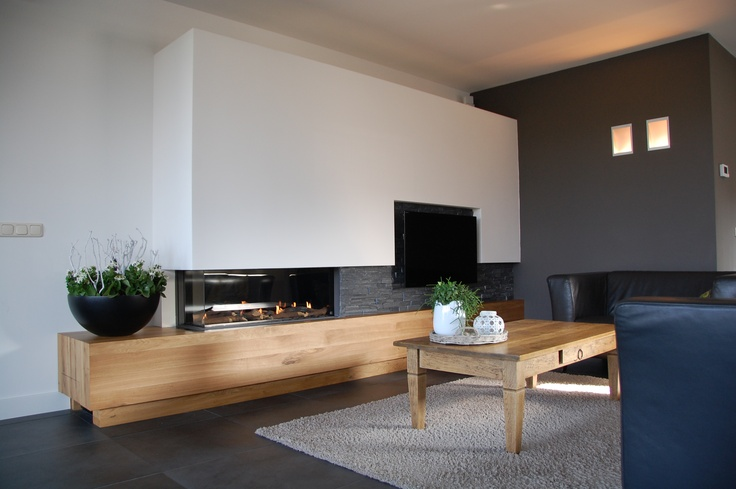 78 best images about haard on pinterest fireplaces architecture and wood storage - Open haard moderne ...