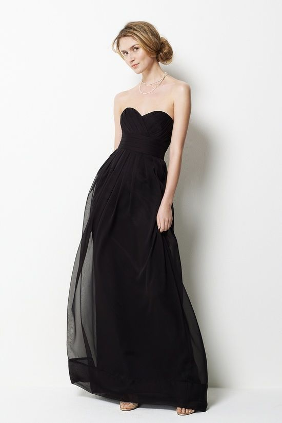 Sweetheart neck with empire waist floor-length chiffon gown...Comes in every color imaginable. Formals?