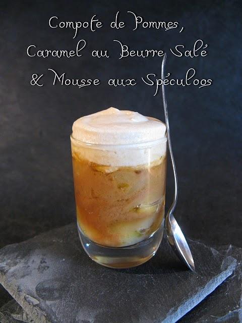 Compote de Pommes, Caramel au Beurre Salé & Mousse aux Spéculoos