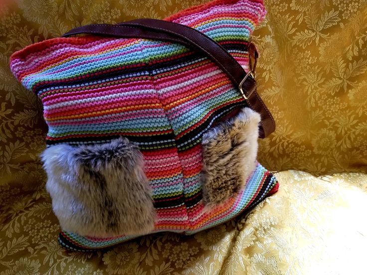 Knit Purse by TrashPandaUpcycling on Etsy