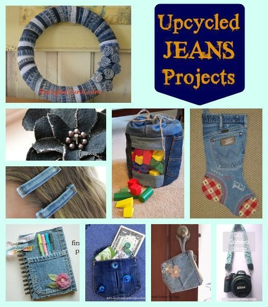 Repurposed And Upcycled Farmhouse Style Diy Projects: Upcycled Jeans Projects -tons Of Ideas For Your Old Denim