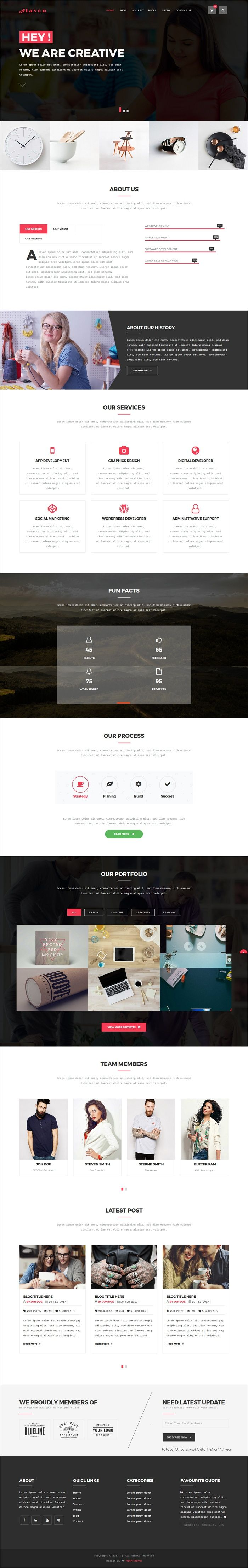 Alvon is a clean and modern design 7in1 responsive HTML5 #bootstrap template for creative business, #corporate agencies or #freelancers website download now➩ https://themeforest.net/item/alavon-creative-portfolio-html5-digital-agency-template/19561582?ref=Datasata