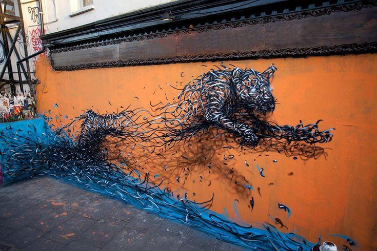 De magnifiques oeuvres de Street Art réalisées par un artiste voyageur - CitizenPost