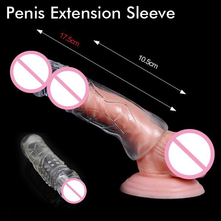 7 cm Lebih Besar Penis Lengan Extender Enhancer Kondom Ereksi Impotensi Aid