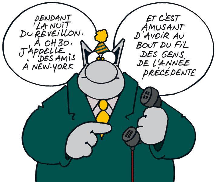"""Dessin de Philippe Geluck (1954) artiste belge surtout connu pour être l'auteur de la série de bande dessinée """"Le Chat""""."""