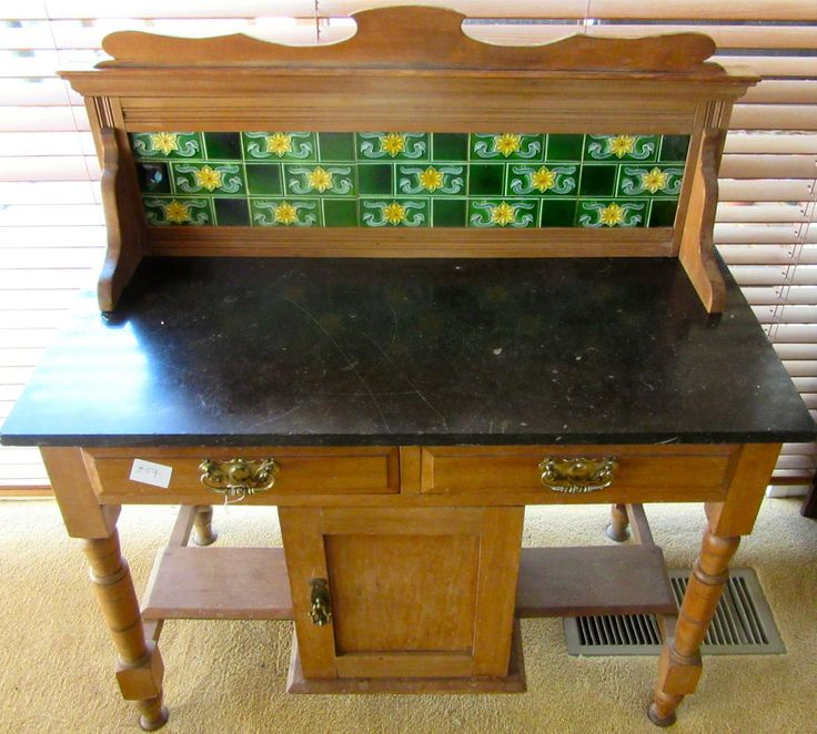 Antique Wash Stand Kitchen Counter Top Table Bathroom Bench Tile Furniture  DIY