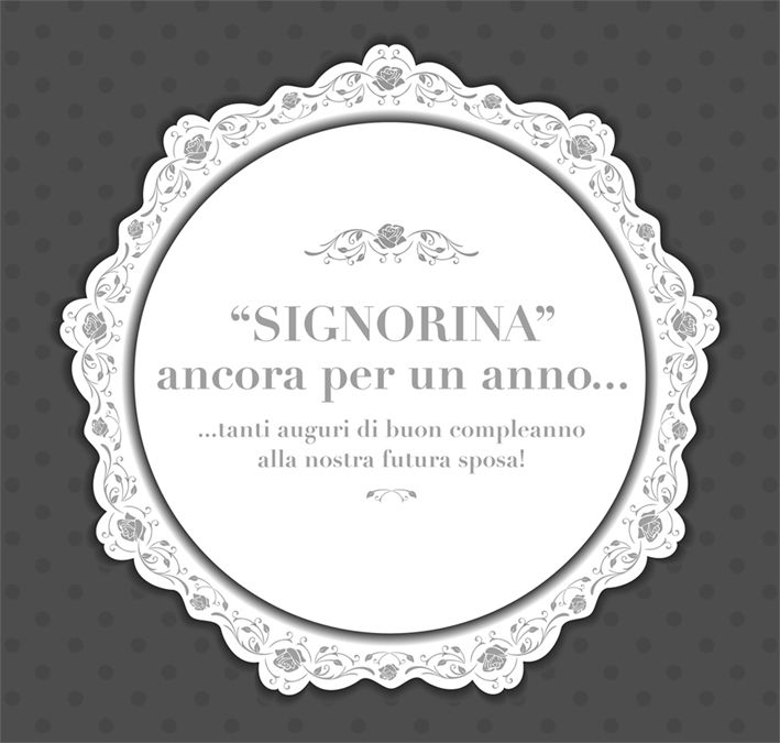 #auguri #sposa #signorina #centrino #bianco