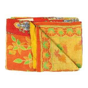 Vintage Sari Throw Bargari now featured on Fab.