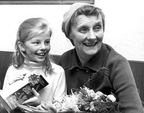 Astrid-Lindgren and Inger Nilsson