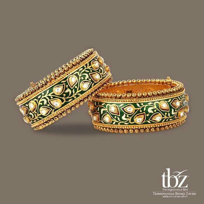 Meenakari work gold bangles