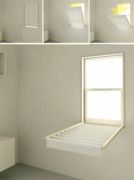 How to make : Flip Down Window Blinds, Space Saving Laundry Room Ideas