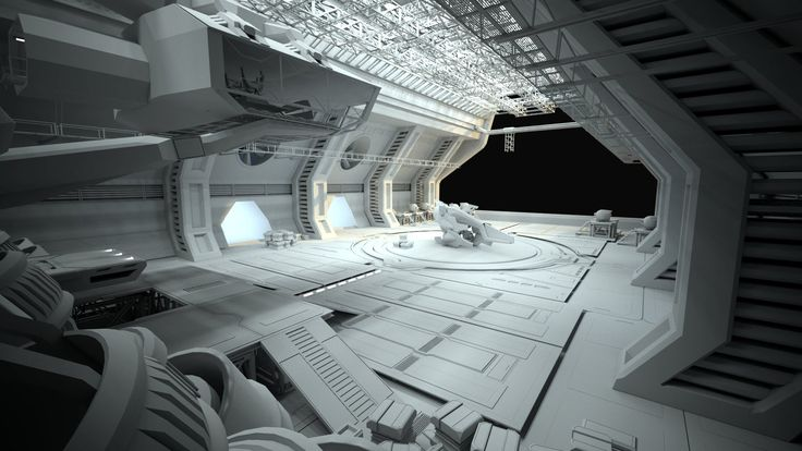Some Sci-fi environment  exercise. Its still a WIP but maybe ill come around to finish it one day if i find the time :)