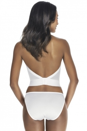 Dominique Backless Satin Longline Bra. This might work for me, and only $36