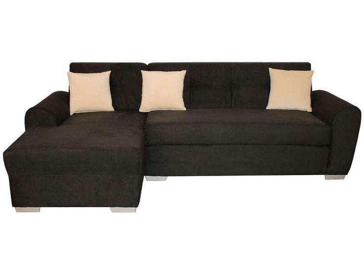 Canapé d angle convertible 4 places 3 coussins déco TEAM coloris