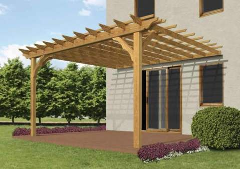 diy pergola ---attached to wall??