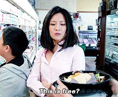 "And when Jessica happily accepted the entire bowl of ""free samples."" 