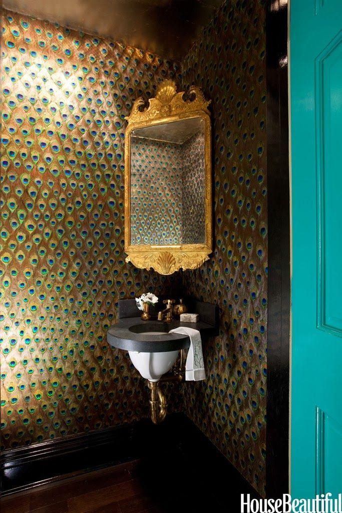 12 Daring And Exotic Powder Rooms