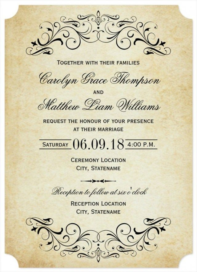 35 Best Photo Of Wedding Invitations Wording Samples Regiosfera Com Free Wedding Invitation Templates Vintage Wedding Invitations Templates Free Printable Wedding Invitations