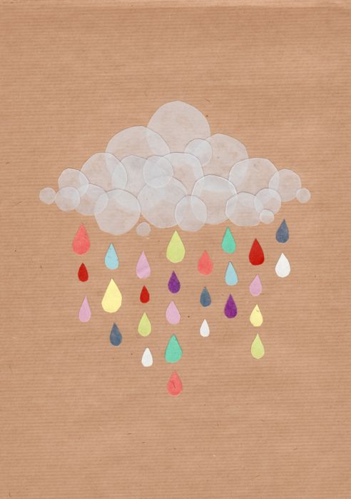 paper craft cloud and rain