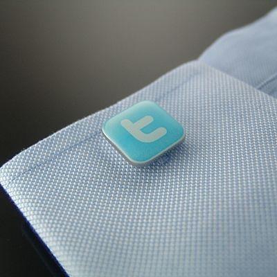 Twitter ツイッターのカフスボタン(カフリンクス)