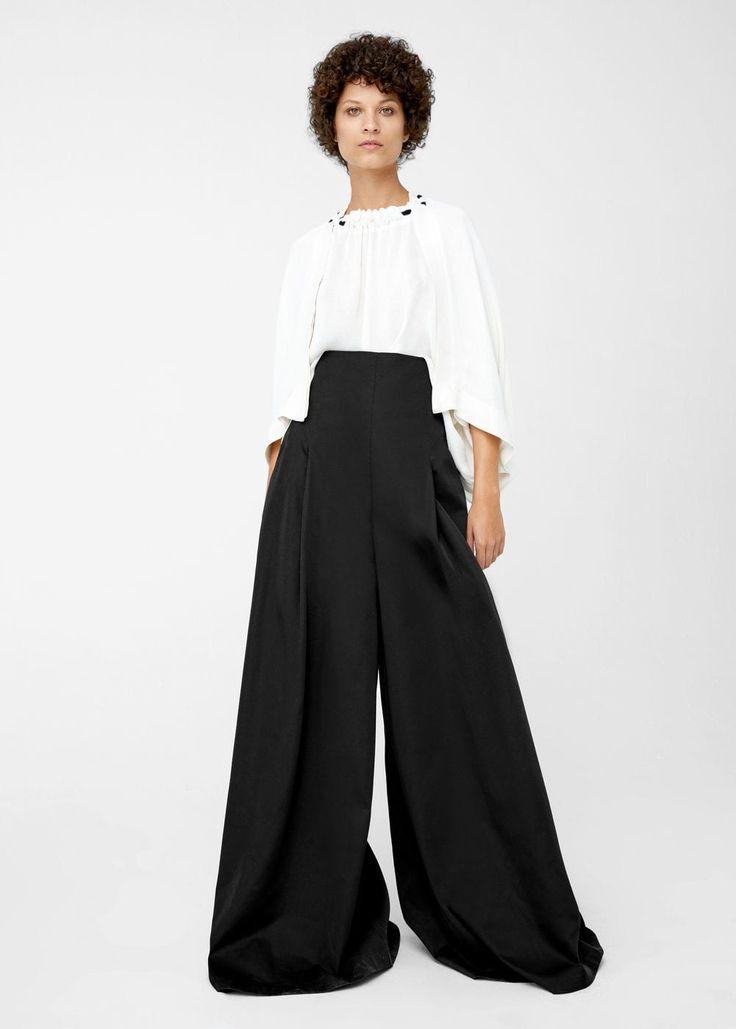 High-waist palazzo trousers   MANGO