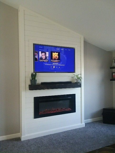 Shiplap Electric Fireplace Diy With Images Diy