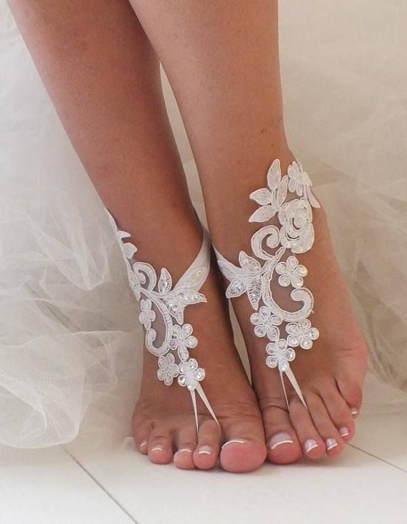 İvory Barefoot Sandals, Lace Barefoot Sandals, Bridal Lace Shoes, Beach wedding Barefoot Sandals, Wedding Shoes, Bridesmaid Sandals, Wedding sandals, Wedding Anklet, Bridal beach Shoes, Bridesmaid Gifts, Beach Party Shoes, Wedding Photography, Elegant Ivory lace barefoot sandals,
