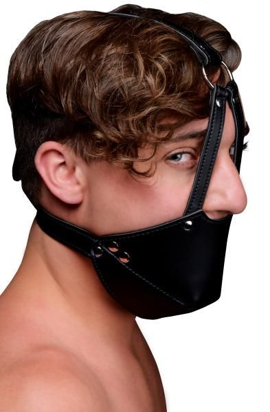 Strict Mouth Harness with Ball Gag Black O/S Sex Toy Product