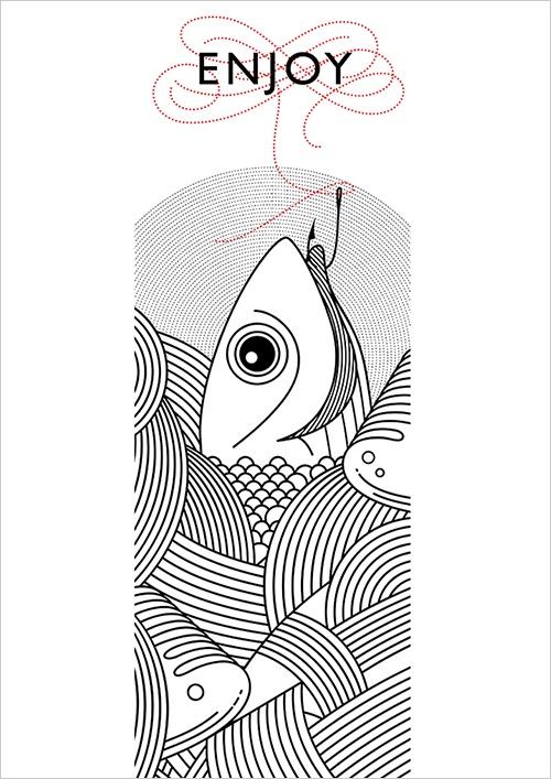 Jones Menu Illustration...like simplicity of menu illustration.