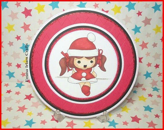 Christmas Girl Digi Stamp - Christmas cardmaking / papercrafting  by Emma Irlam Crafts http://www.etsy.com/shop/EmmaIrlamCrafts