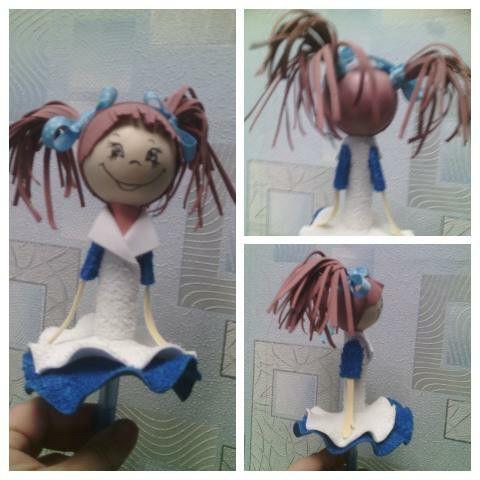 Кукла из фоамирана на ручку