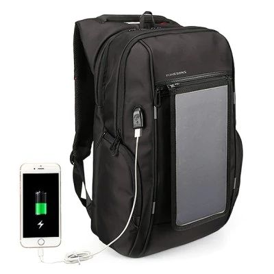 Water-resistant <b>Solar Powered</b> Backpack with USB Port | Bags and ...