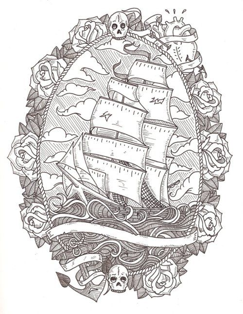 obsessed with ship tattoos.