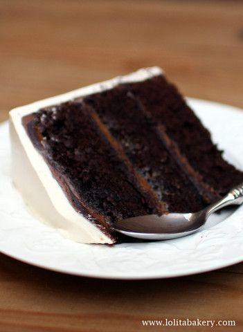Devil´s Food Cake - Lolita Bakery - Barcelona #chocolate  #devilfoodcake #creamcheese  #lolitabakery