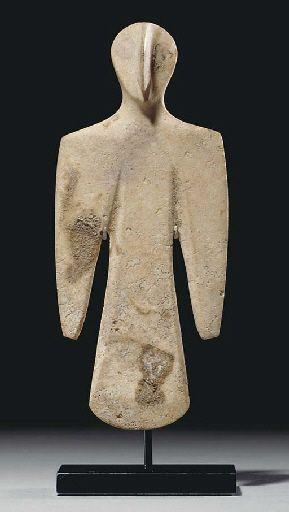 Bactrian white stone figurine, ca. 3rd millennium BCE
