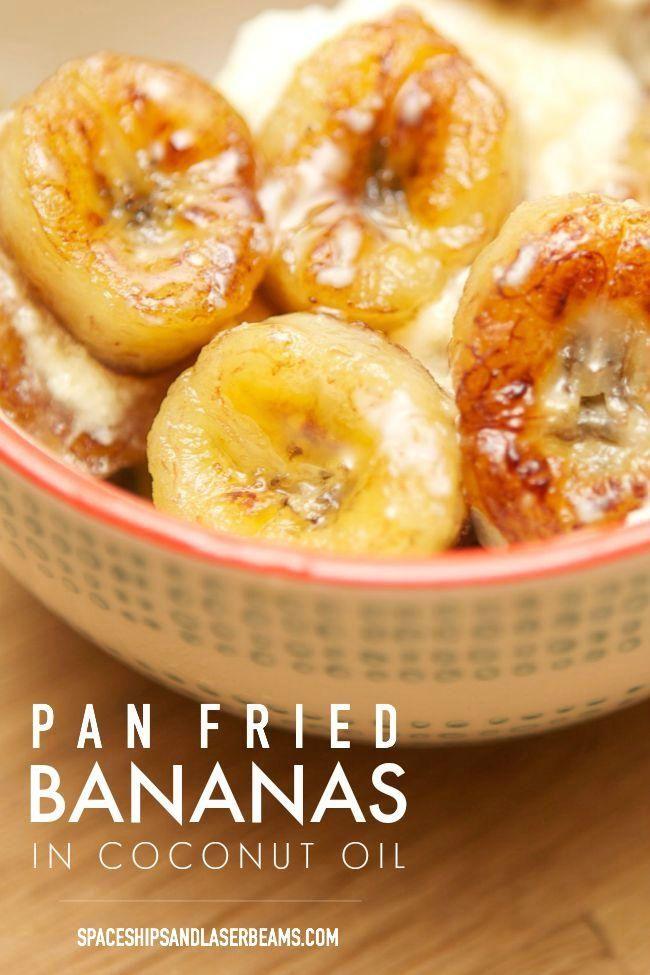 Pan Fried Bananas in Coconut Oil